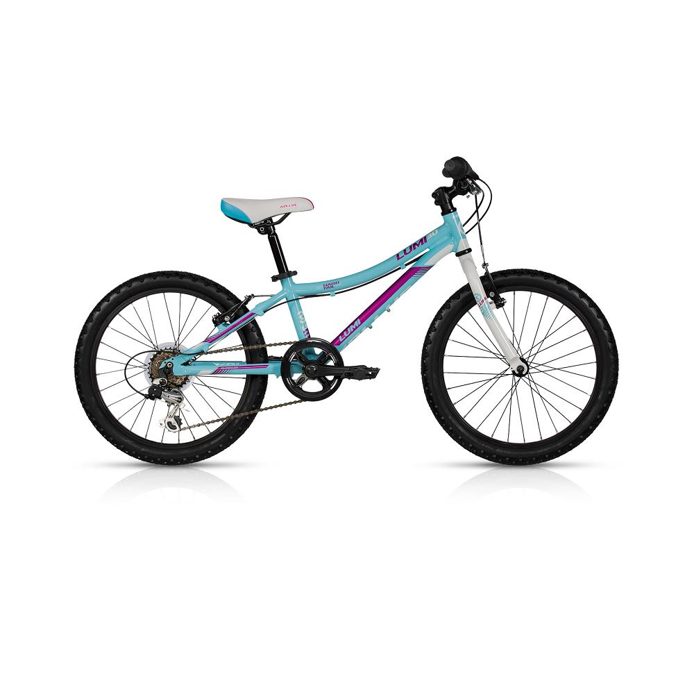 "Detský bicykel KELLYS LUMI 30 20"" - model 2017 Light Blue - 255 mm (10"") - Záruka 10 rokov"