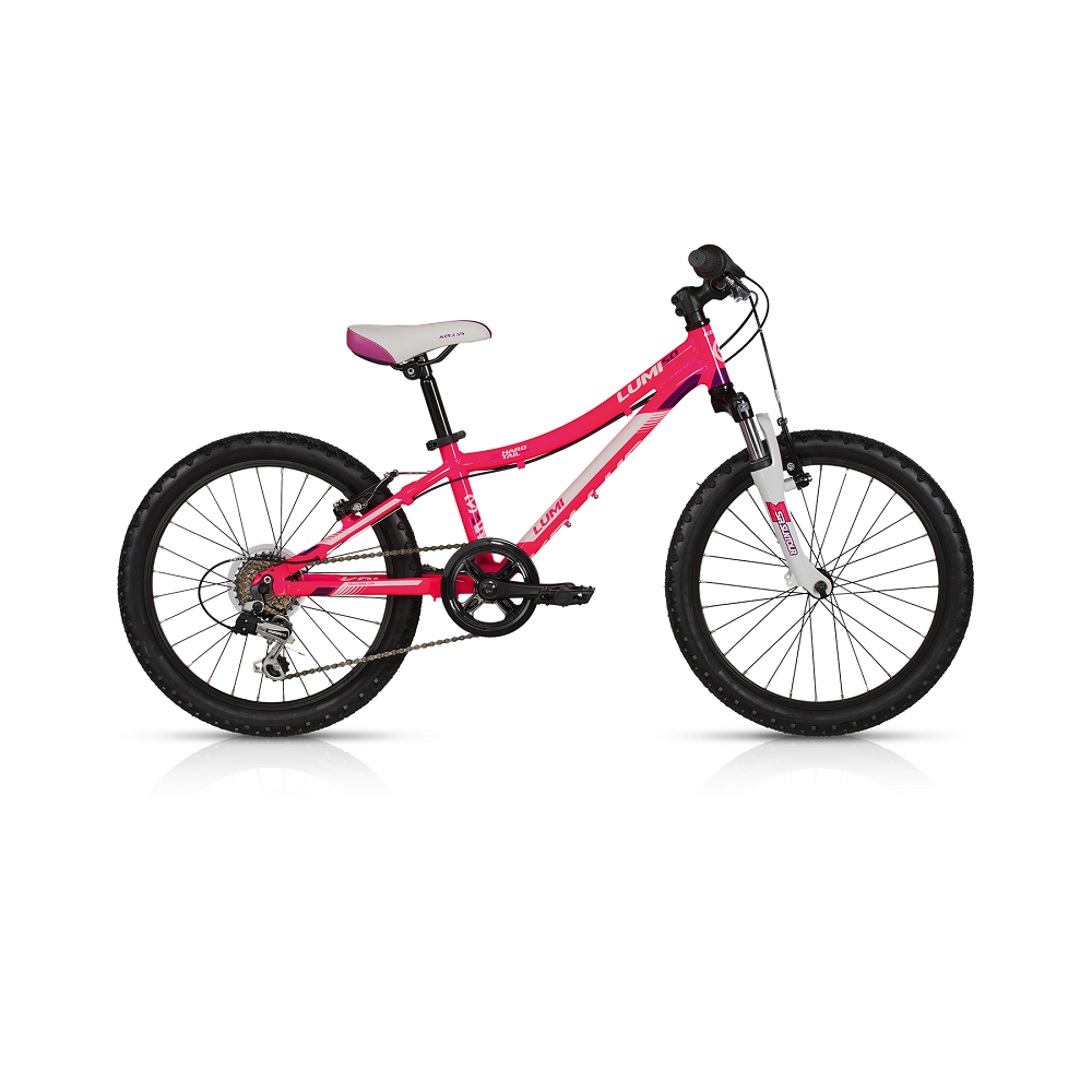 "Detský bicykel KELLYS LUMI 50 20"" - model 2017 Pink - 255 mm (10"") - Záruka 5 rokov"