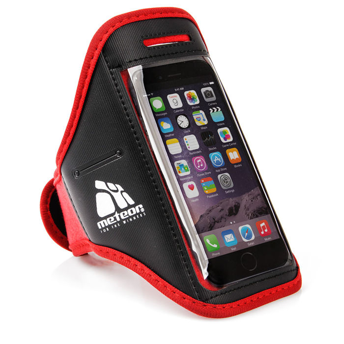 Bežecký obal na telefón s vreckom Meteor červená