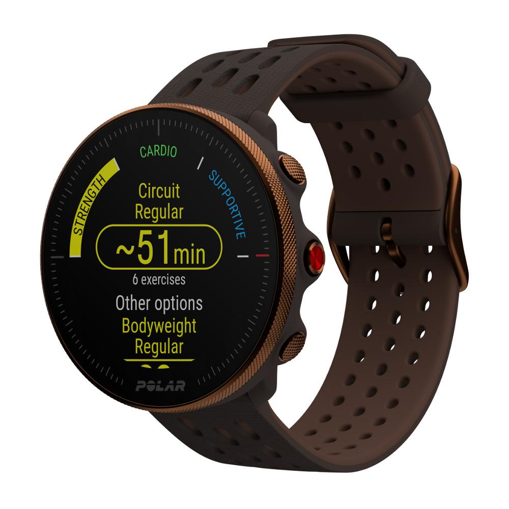 Športové hodinky POLAR Vantage M2 meď/hnedá S-L