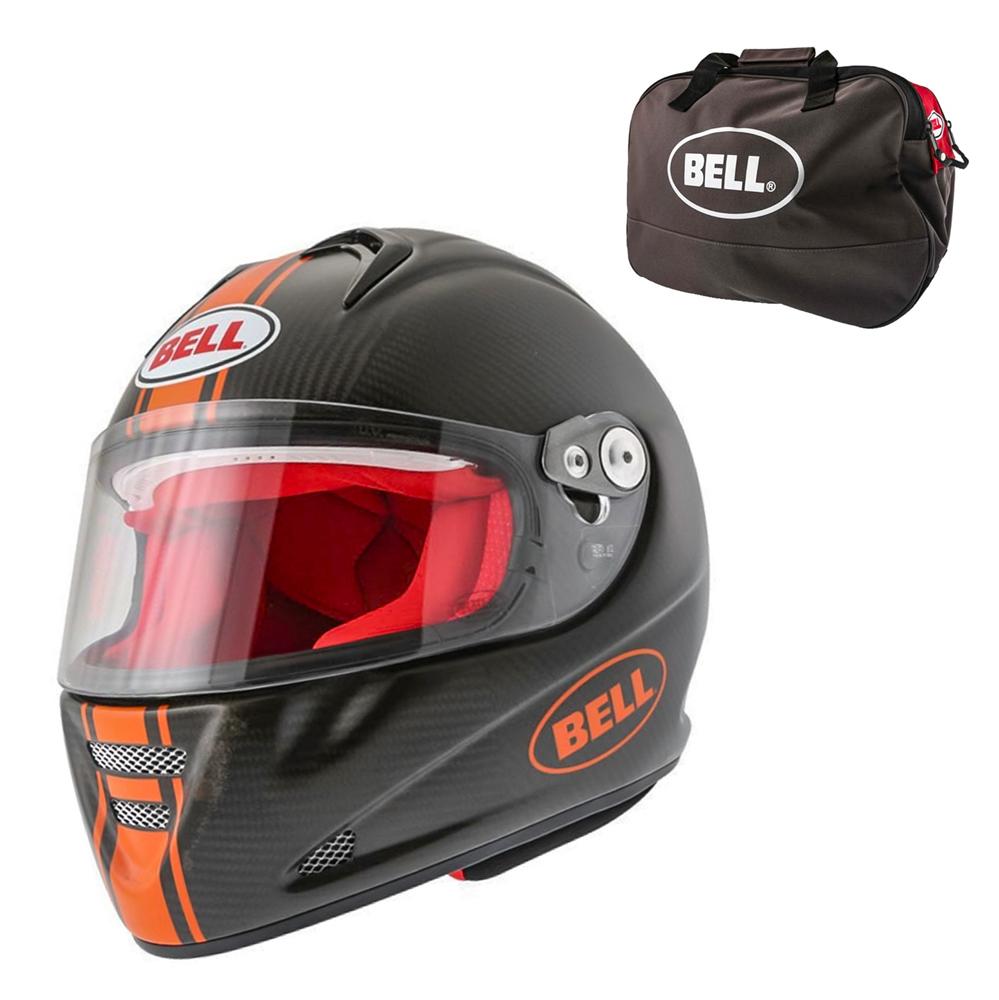 Moto prilba BELL M5X Daytona Carbon Matte Orange