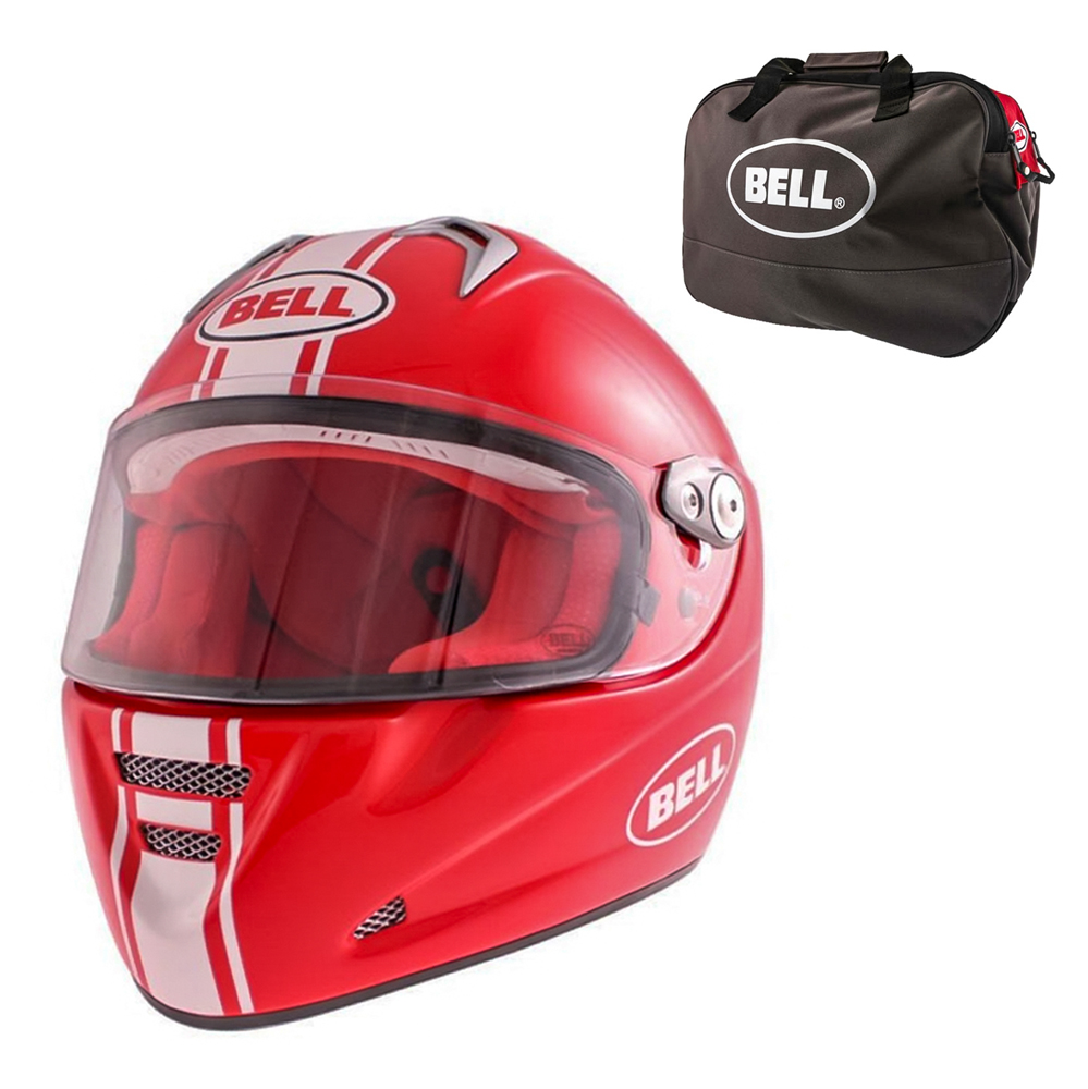 Moto prilba BELL M5X Daytona Red White XL (61-62) - Záruka 5 rokov