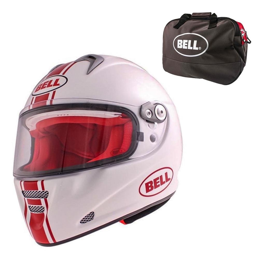 Moto prilba BELL M5X Daytona White Red