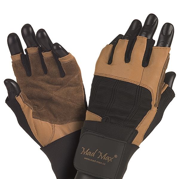 Fitness rukavice Mad Max Professional hnedo-čierna - L