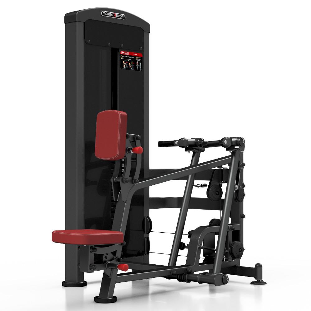 Posilňovací stroj - príťahy v sede Marbo Sport MP-U229 červená