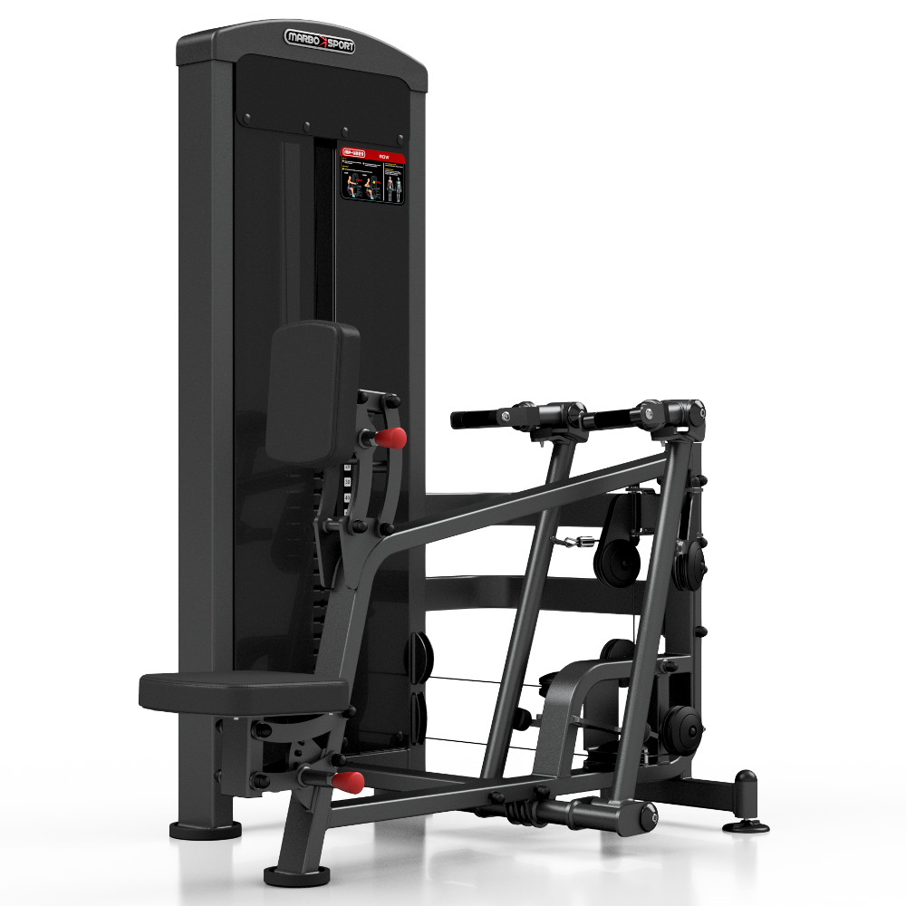 Posilňovací stroj - príťahy v sede Marbo Sport MP-U229 čierna