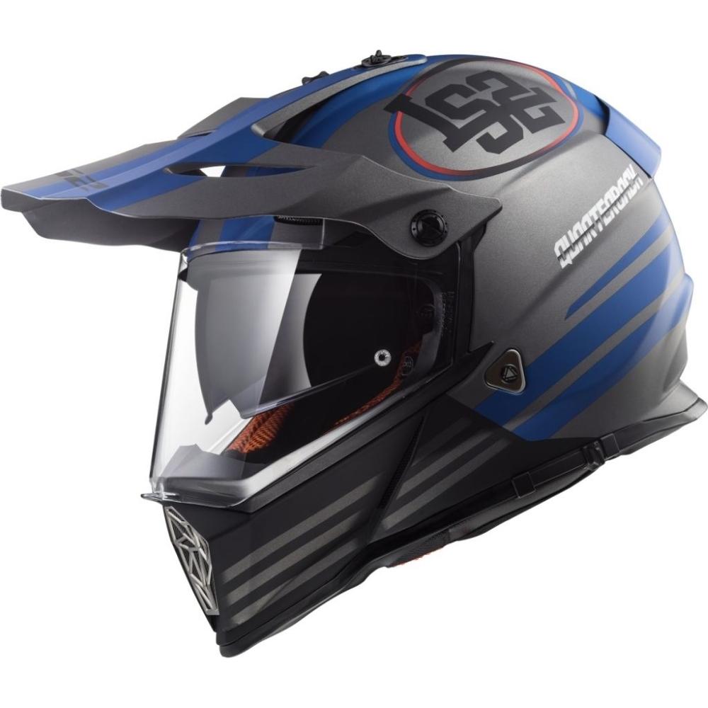 Moto prilba LS2 MX436 Pioneer Grafika Quarterback - XS (53-54)