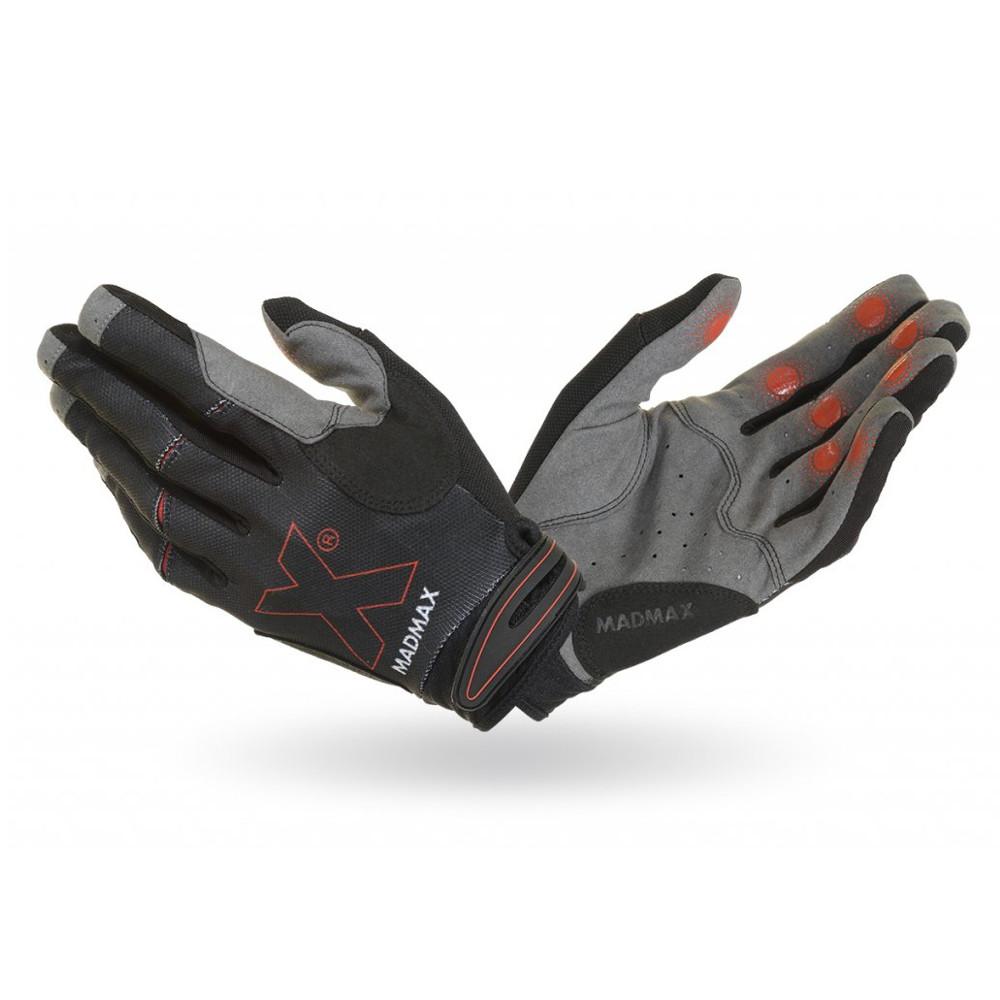 Fitness rukavice Mad Max Crossfit MXG103 čierna - L