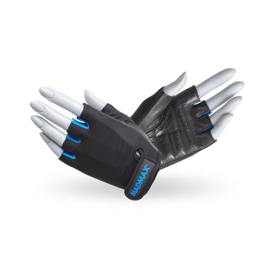 Fitness rukavice MadMax Rainbow čierno-tyrkysová - M