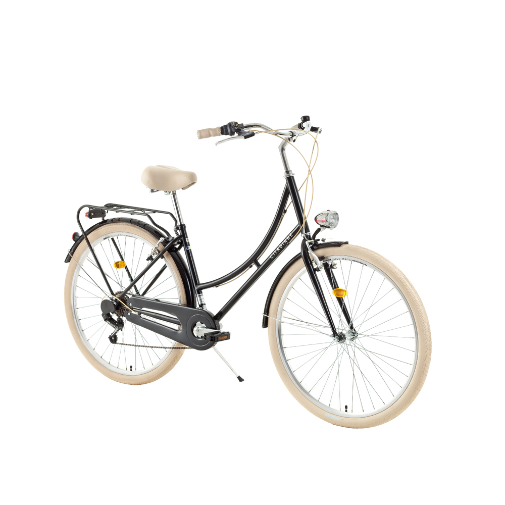 "Mestský bicykel DHS Citadinne 2634 26"" - model 2018 Black - 18"" - Záruka 10 rokov"