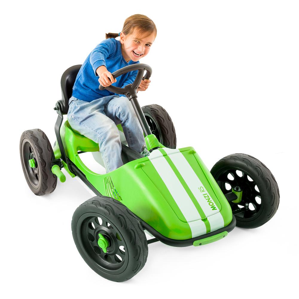 Šlapacie autíčko pre deti Chillafish Monzi-RS limetková