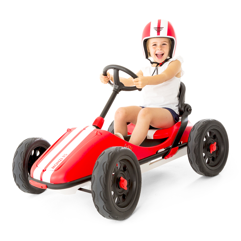 Šlapacie autíčko pre deti Chillafish Monzi-RS červená
