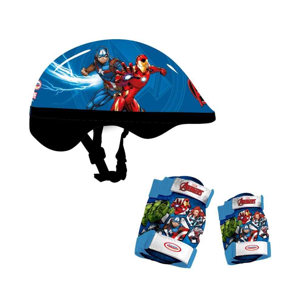 Sada chráničov a prilby Avengers Protection Set 5-dielna