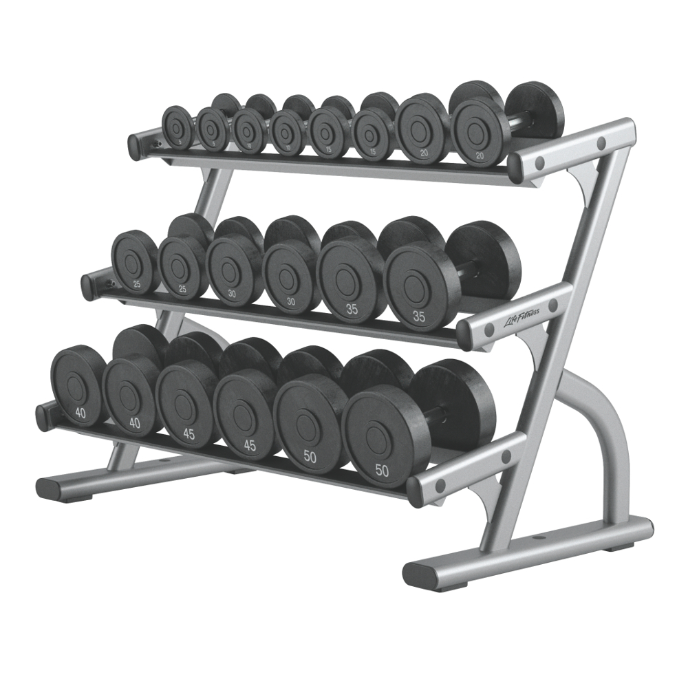 Stojan na činky Life Fitness Optima 3-Tier Dumbbell Rack - Montáž zadarmo + Servis u zákazníka