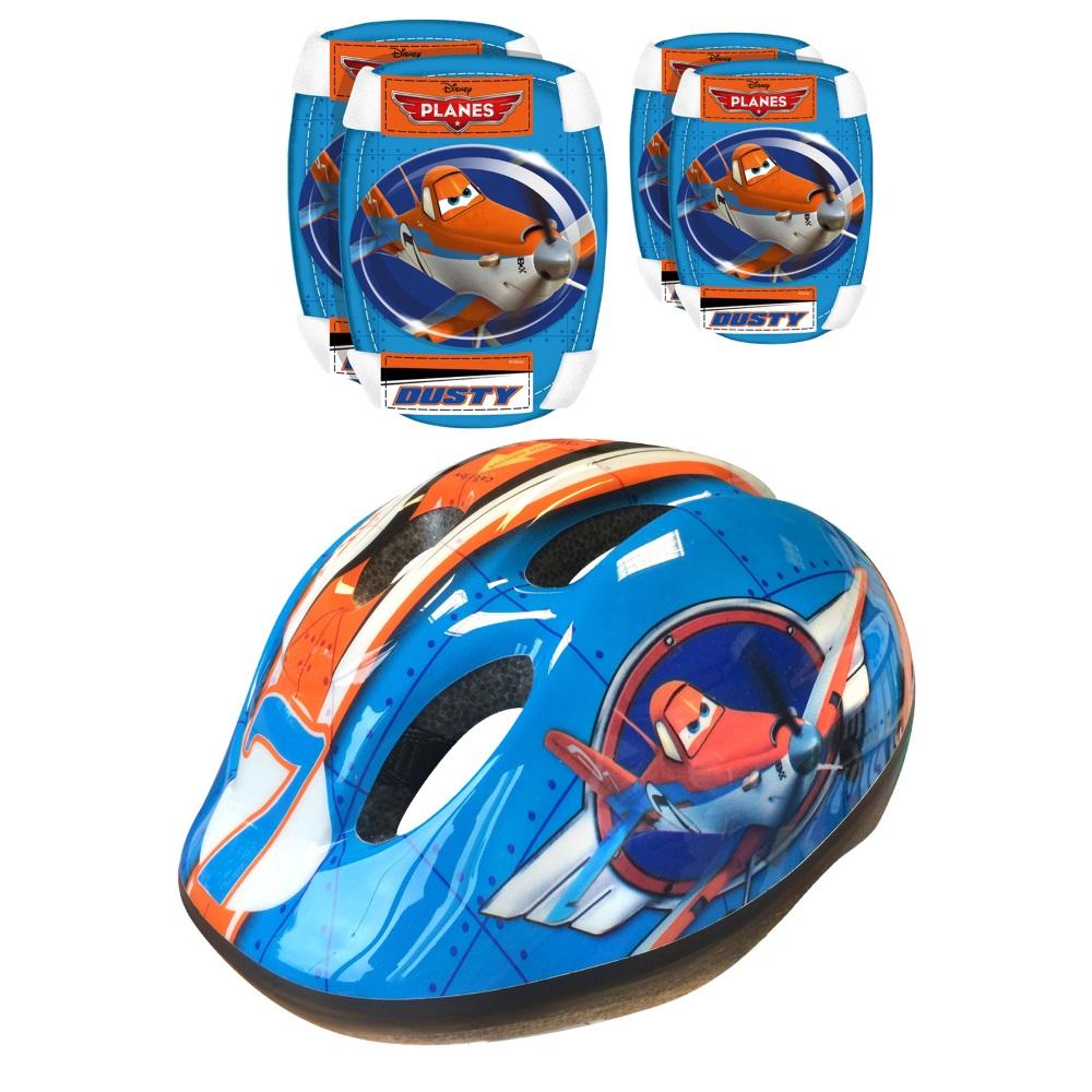 Sada Disney Planes - helma + chrániče lakťov a kolien