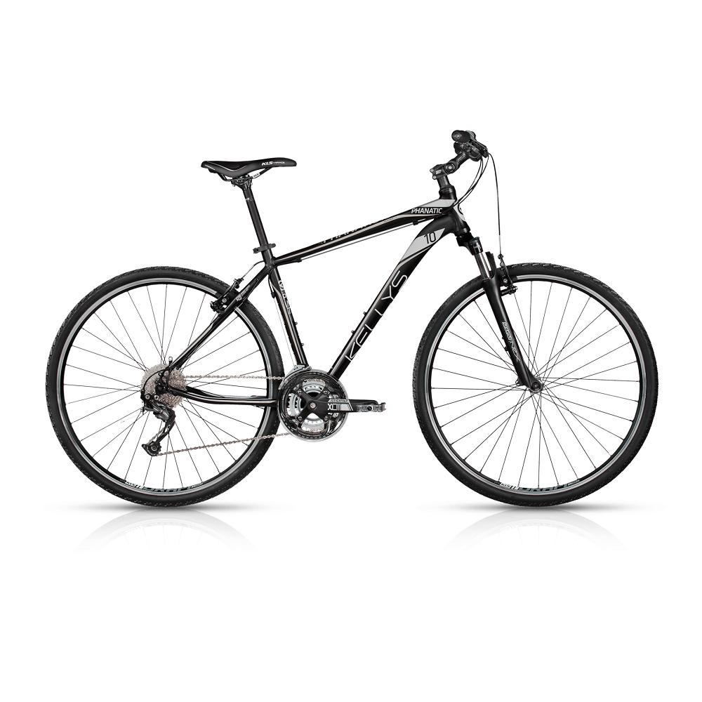 """Pánsky crossový bicykel KELLYS PHANATIC 10 28"""" - model 2017 Black - 430 mm (17"""") - Záruka 10 rokov"""