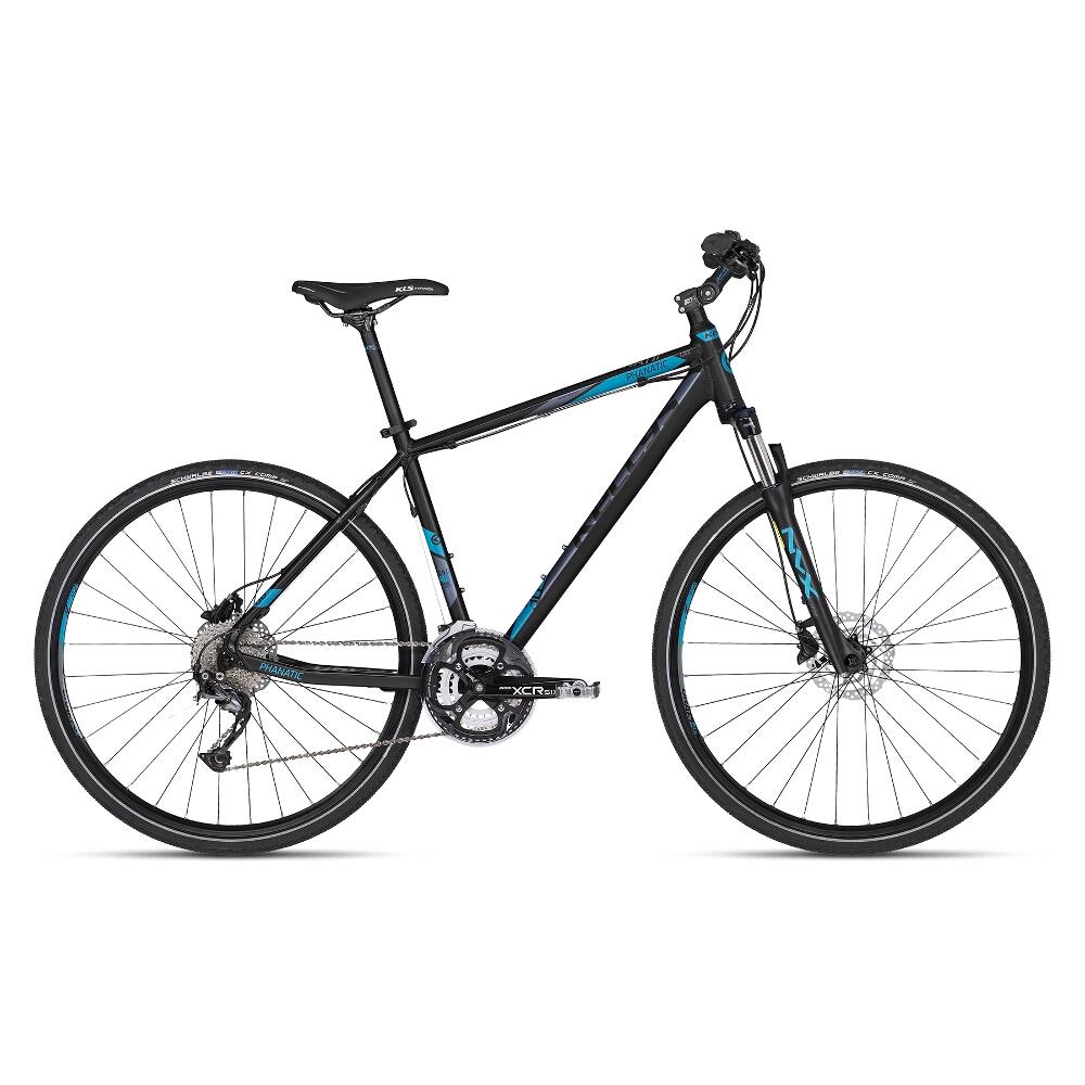 """Pánsky crossový bicykel KELLYS PHANATIC 30 28"""" - model 2018 Dark Blue - 17"""" - Záruka 10 rokov"""