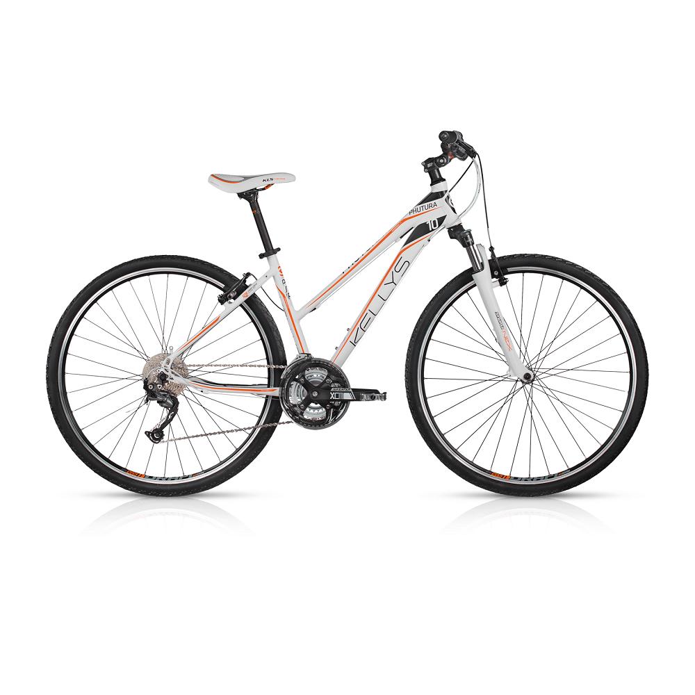 """Dámsky crossový bicykel KELLYS PHUTURA 10 28"""" - model 2017 White - 432 mm (17"""") - Záruka 10 rokov"""