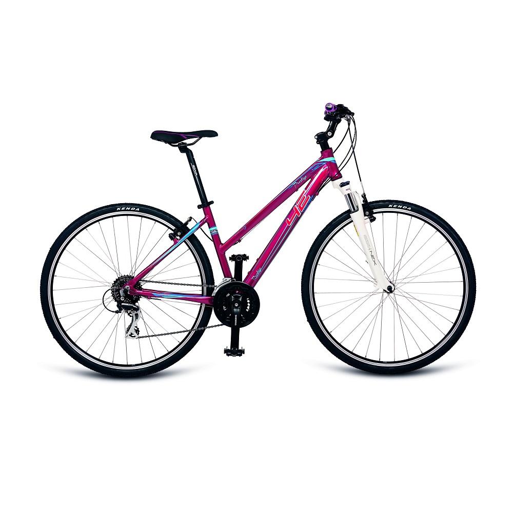 "Dámsky crossový bicykel 4EVER Prestige 28'' - model 2018 vínová - 16,5"" - Záruka 10 rokov"