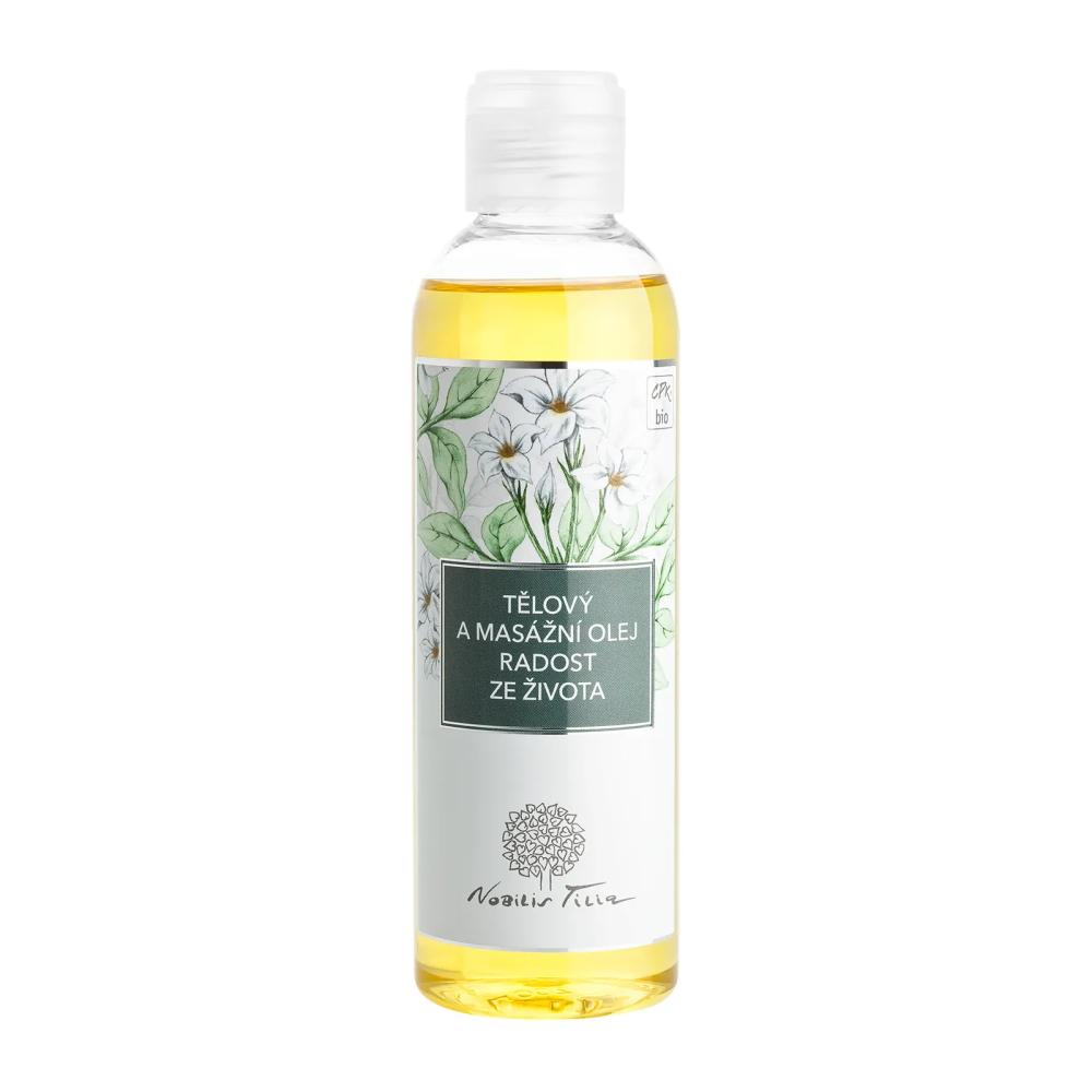Telový a masážny olej Nobilis Tilia Radosť zo života 200 ml