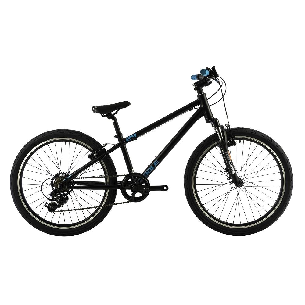 "Juniorský bicykel Devron Riddle Kids 2.4 24"" - model 2018 Black - Záruka 10 rokov"