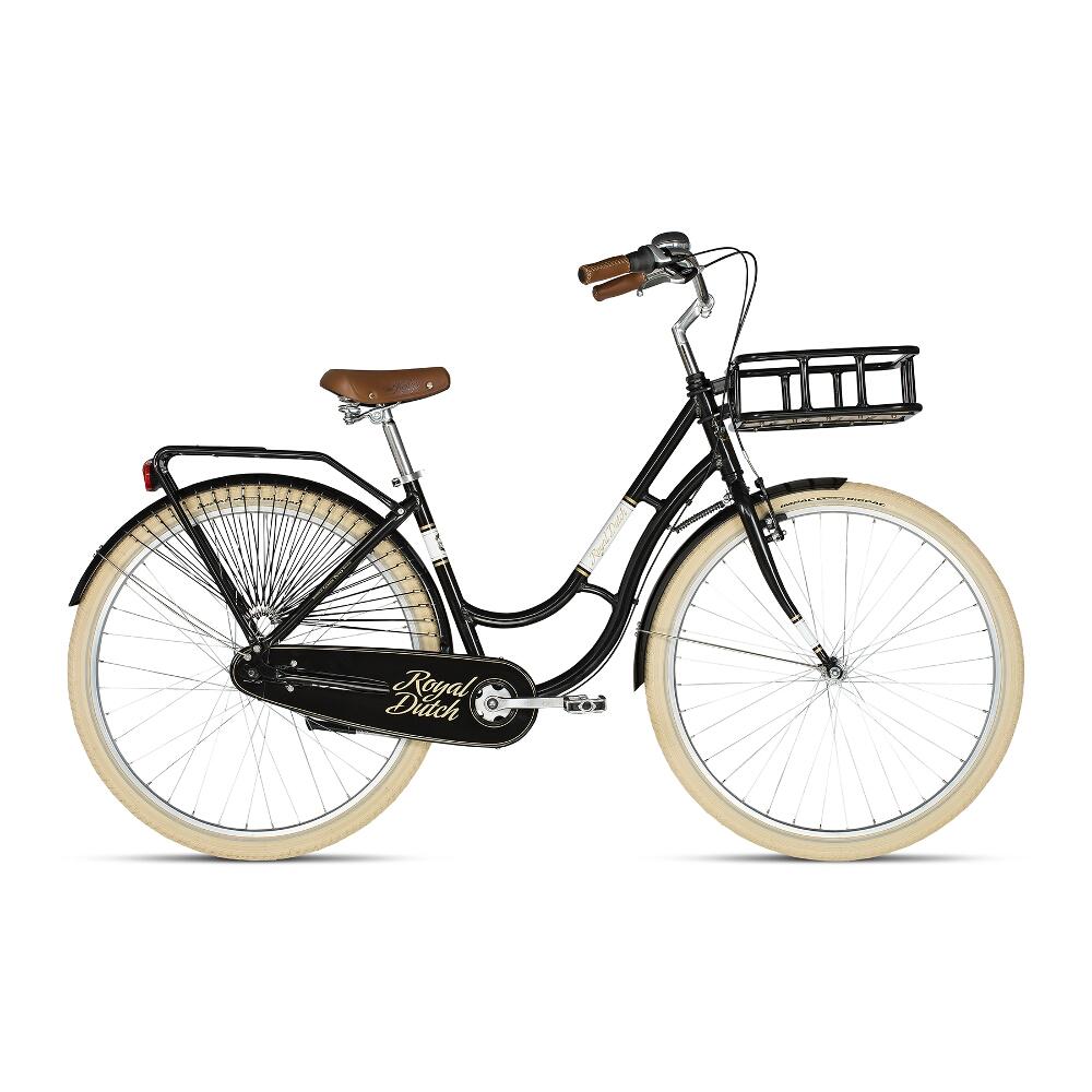 "Mestský bicykel KELLYS ROYAL DUTCH 28"" - model 2018 Black - 460 mm (18"") - Záruka 10 rokov"