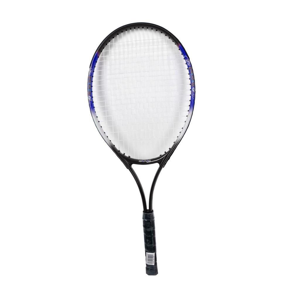 Detská tenisová raketa Spartan Alu 68 cm modro-čierna