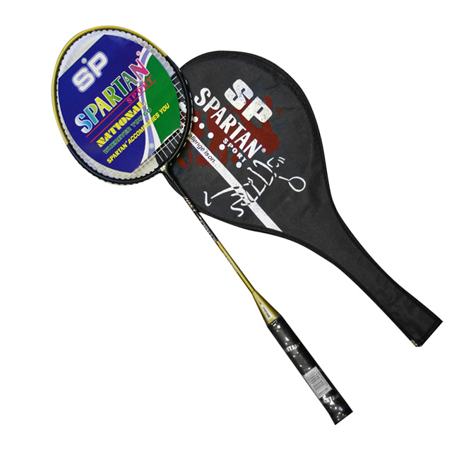 Badmintonová raketa SPARTAN JIVE zlatá