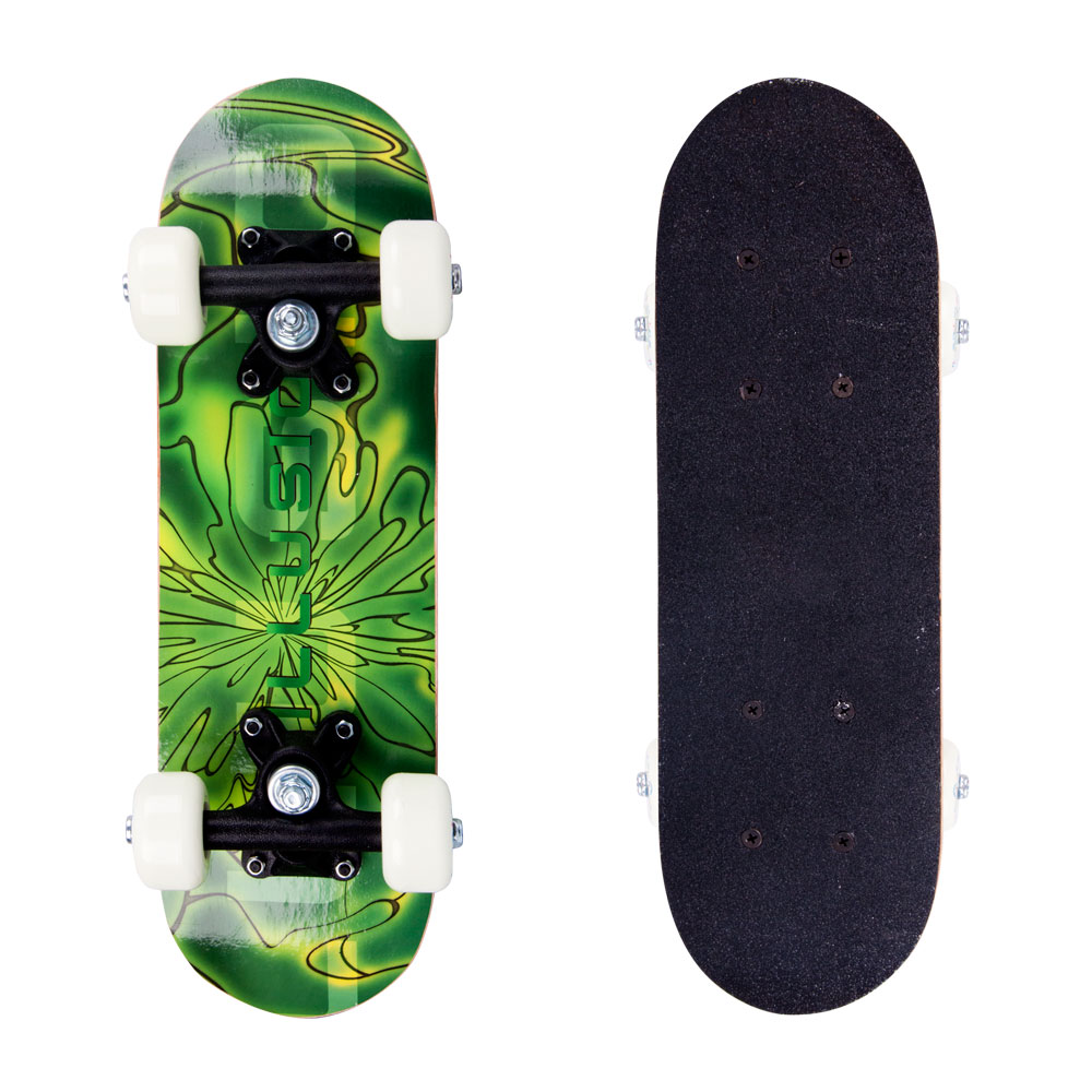 Skateboard Mini Board Psychadelic zelená