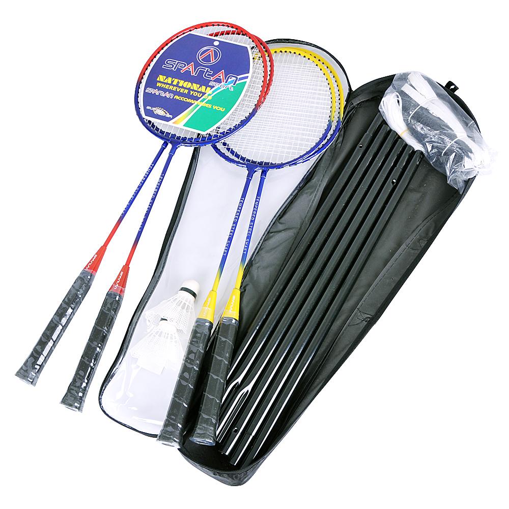 Badmintonový set so sieťou Spartan pre 4 hráčov