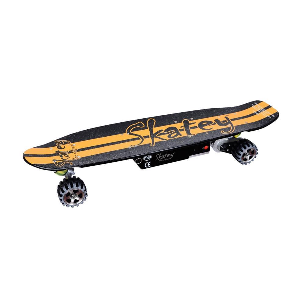 Elektrický longboard Skatey 400 čierno-oranžový