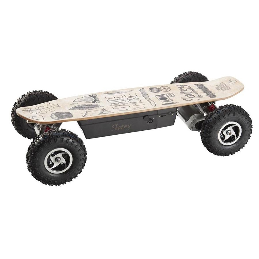 Elektrický longboard Skatey 800 Off-road Wood Art