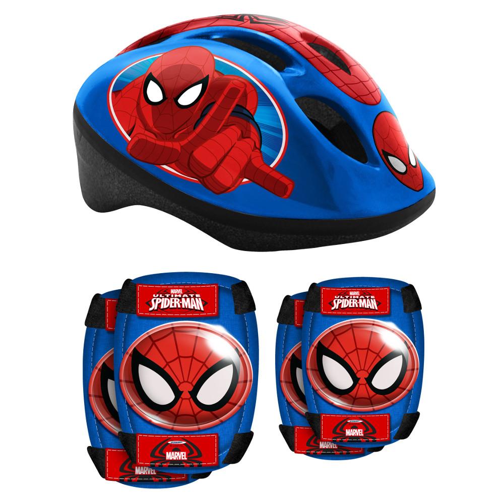 Spiderman sada prilba + chrániče pre deti
