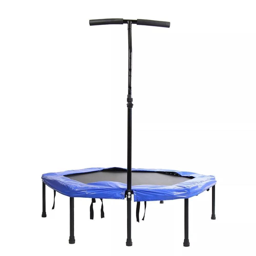 Bezpružinová trampolína s držadlom Spartan Hexagon 136 cm