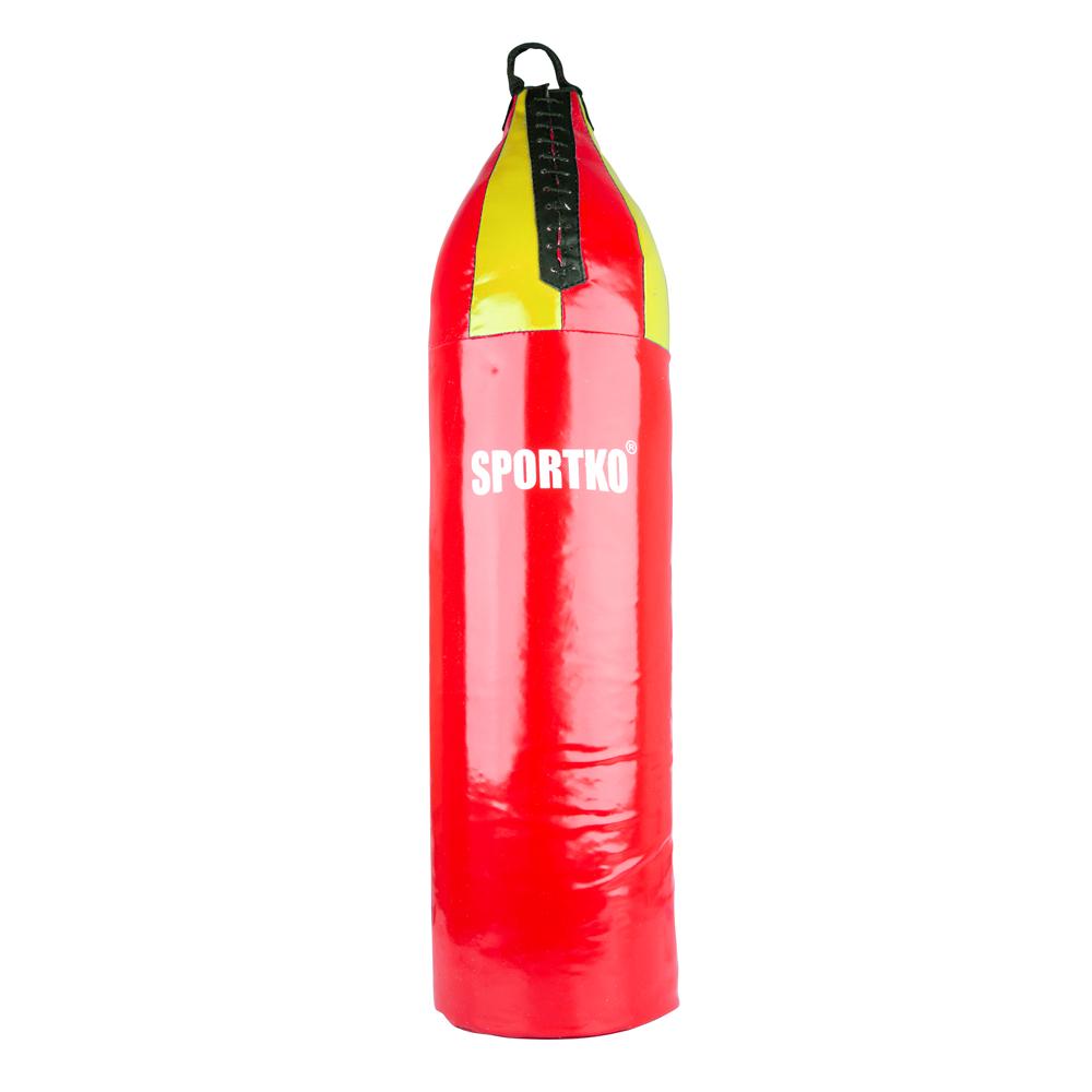 Detské boxovacie vrece SportKO MP7 24x80 cm červeno-žltá