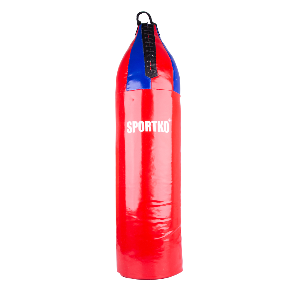 Detské boxovacie vrece SportKO MP7 24x80 cm červeno-modrá