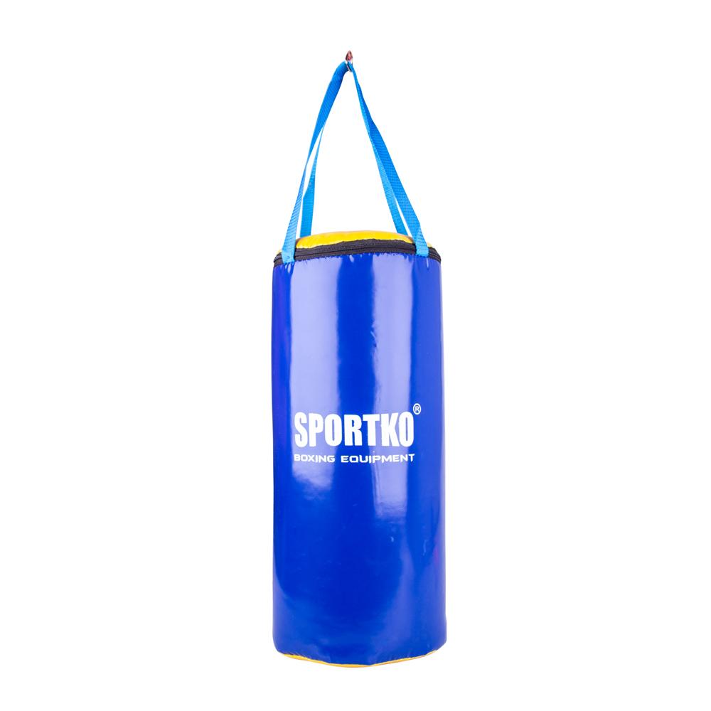Detské boxovacie vrece SportKO MP9 24x50 cm modro-žltá
