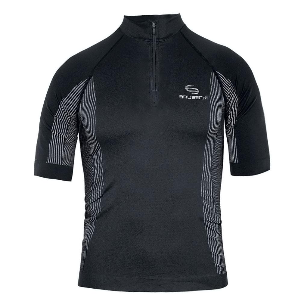 Pánske termo tričko Brubeck FIT s krátkym rukávom čierna - S