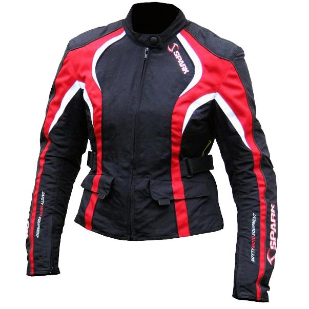 Dámska moto bunda Spark Sara červená - XL