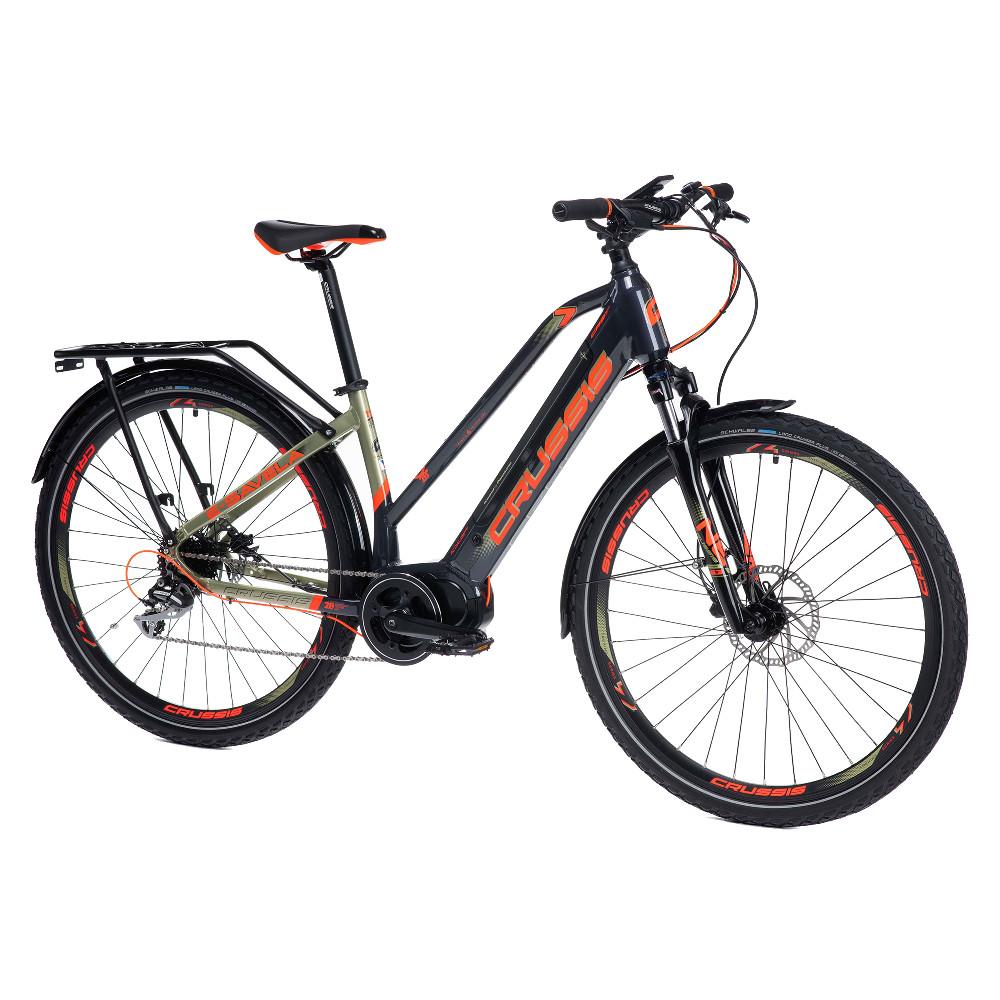 """Dámsky trekingový elektrobicykel Crussis e-Savela 7.6-M - model 2021 17"""" - Záruka 10 rokov"""