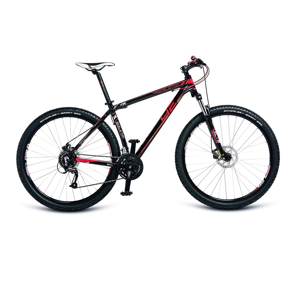 """Horský bicykel 4EVER Sceleton 29'' - model 2017 čierno-červená - 17"""" - Záruka 10 rokov"""
