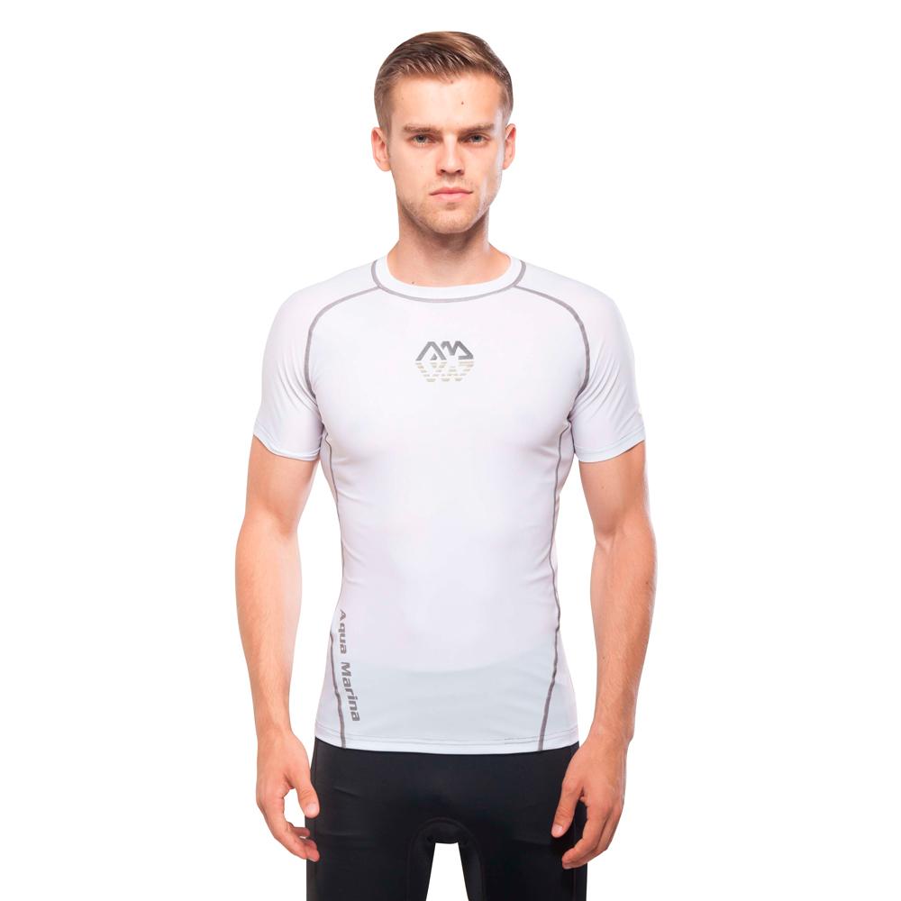 Pánské tričko pre vodné športy Aqua Marina Scene biela - S