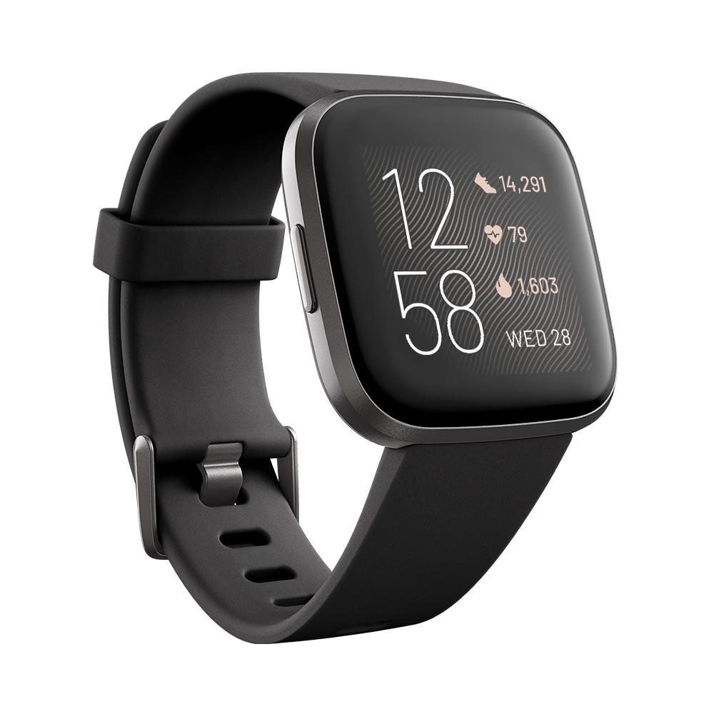 Inteligentné hodinky Fitbit Versa 2 Black/Carbon