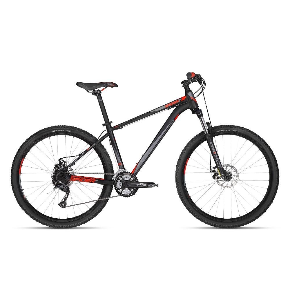 "Horský bicykel KELLYS SPIDER 10 27,5"" - model 2018 Black - S - Záruka 10 rokov"