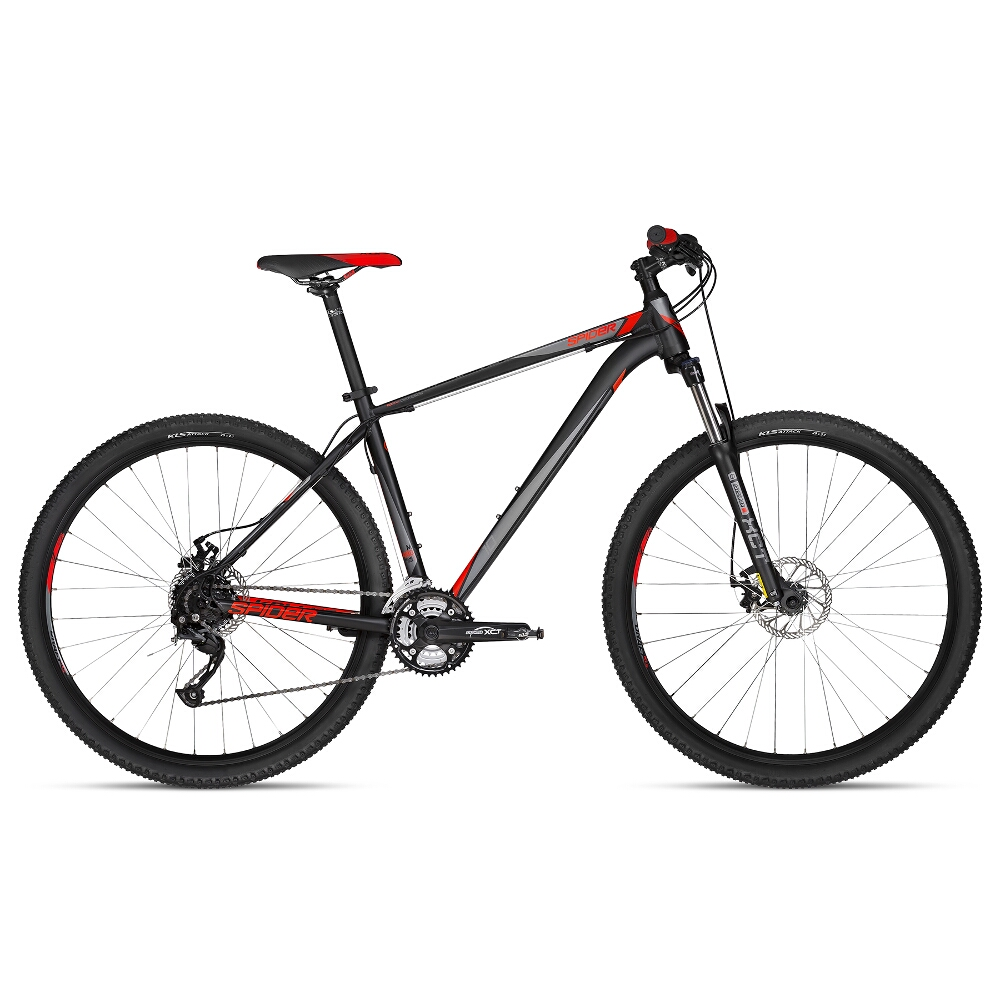 """Horský bicykel KELLYS SPIDER 10 29"""" - model 2018 Black - M - Záruka 10 rokov"""