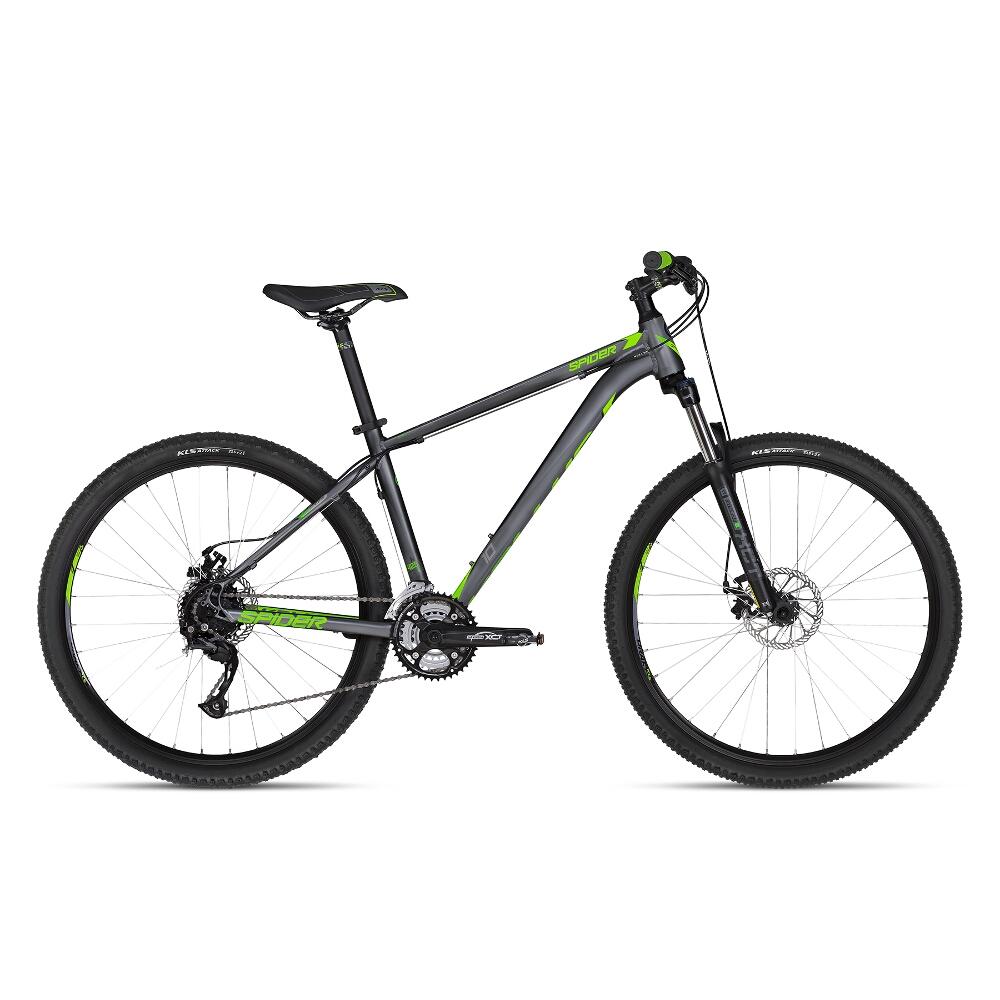 """Horský bicykel KELLYS SPIDER 10 27,5"""" - model 2018 Green - XS - Záruka 10 rokov"""
