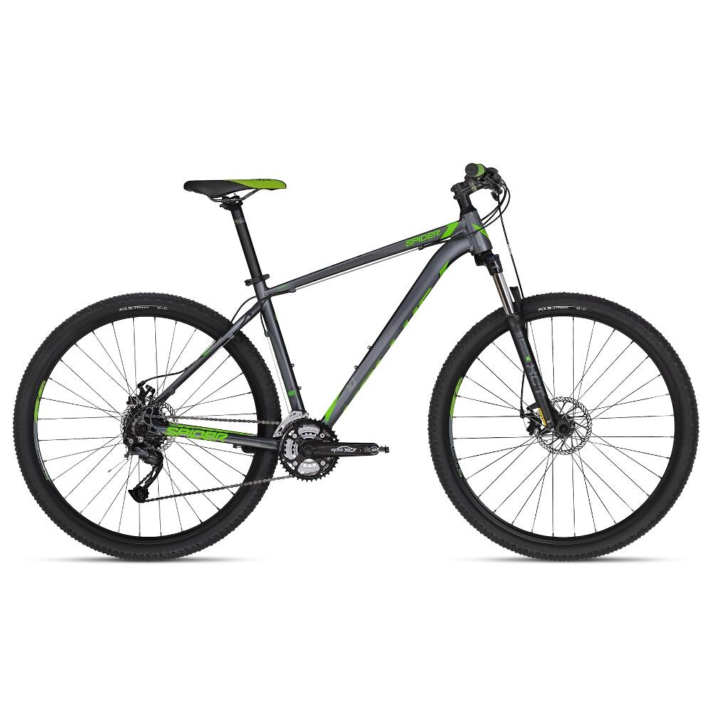 """Horský bicykel KELLYS SPIDER 10 29"""" - model 2018 Green - S - Záruka 10 rokov"""