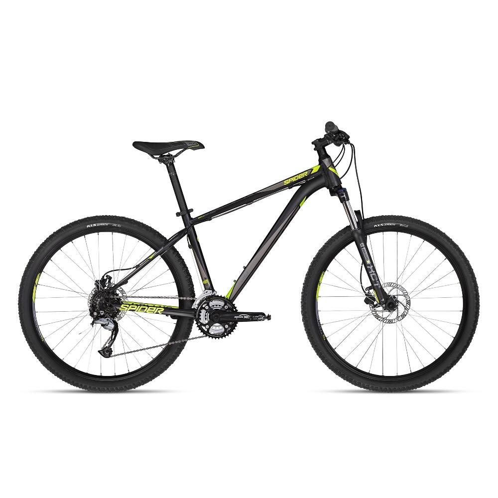 "Horský bicykel KELLYS SPIDER 30 27,5"" - model 2018 Black - S (17'') - Záruka 10 rokov"