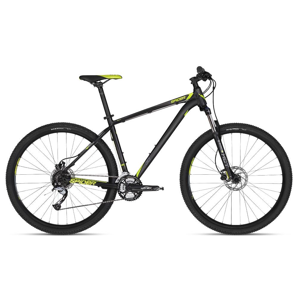 """Horský bicykel KELLYS SPIDER 30 29"""" - model 2018 Black - M - Záruka 10 rokov"""