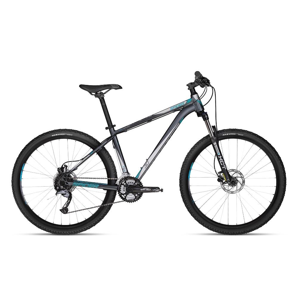 """Horský bicykel KELLYS SPIDER 30 27,5"""" - model 2018 Grey - M (19'') - Záruka 10 rokov"""